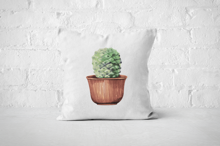 Cacti Party 3 | Pillow Cover by But Why Not