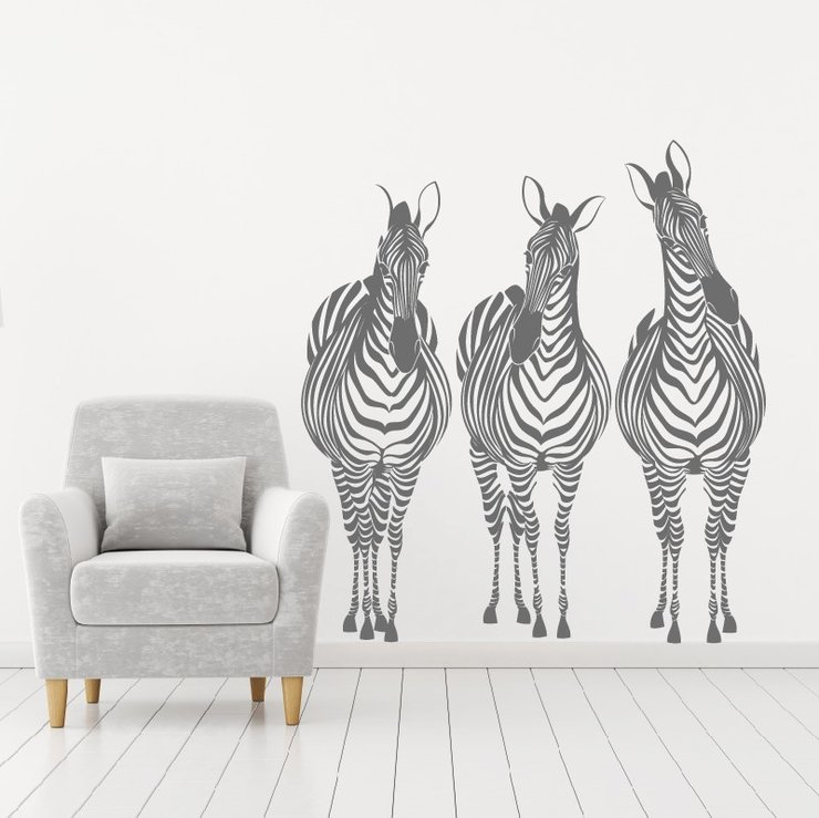 3 ZEBRAS Small by My Wall Tattoos SA