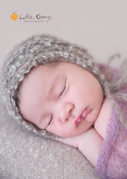 Curly mohair bonnet, newborn photo prop. LB-23 by Lavender Blossoms