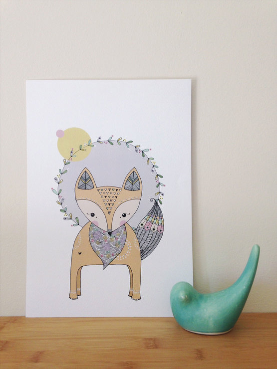 Fox Art-print | A4 by illo