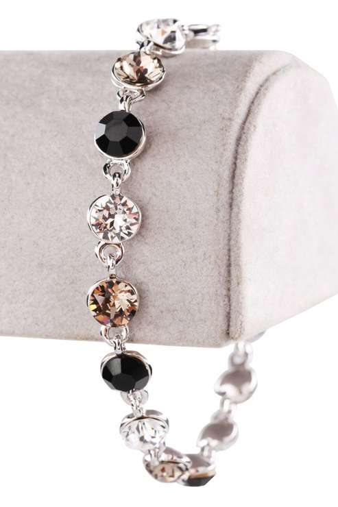 Civetta Spark Bracelet - Made with Mix Black & Grey Swarovski Crystal by Civetta Spark