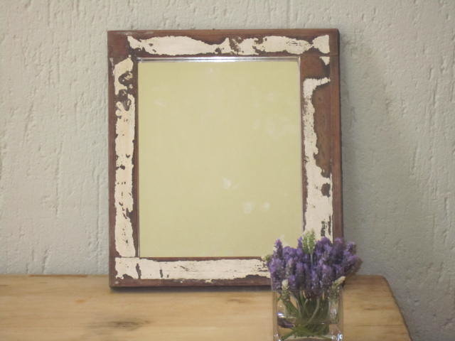 Restored window frame with Mirror by Antiques Alive