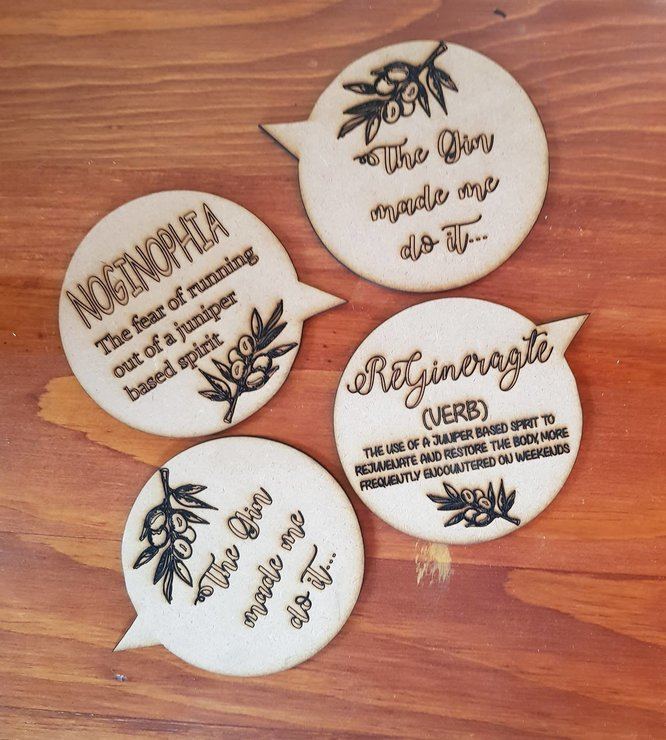 GIN COASTERS by LC&YT