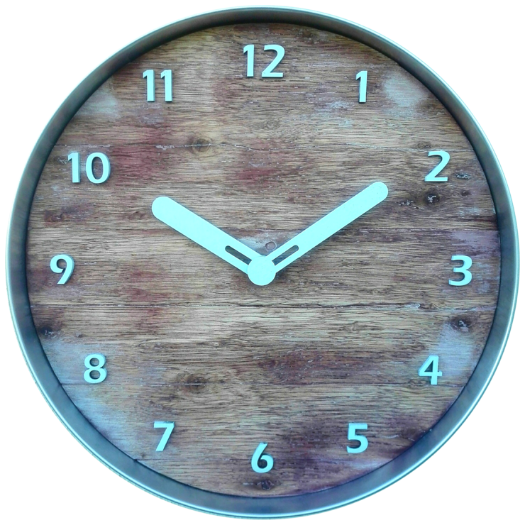Rustic Aluminium Framed Clock by CapeClocks