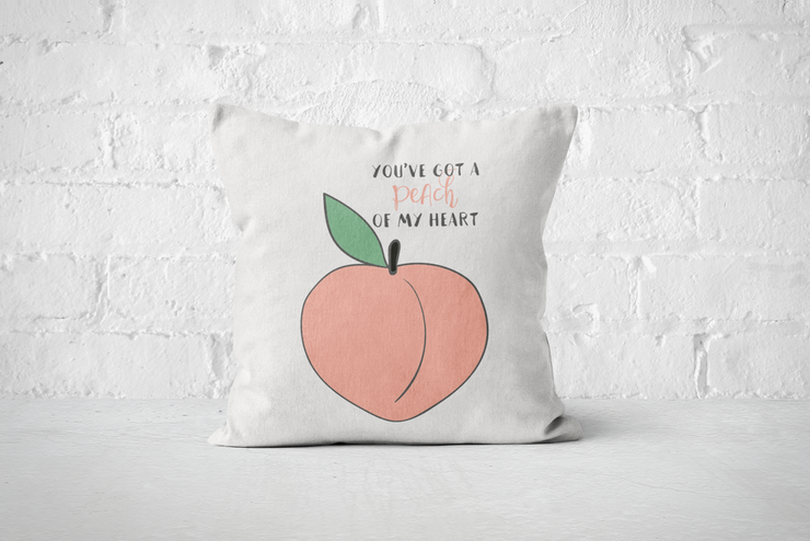 You've got a Peach of my Heart - Pillow Cover  by But Why Not