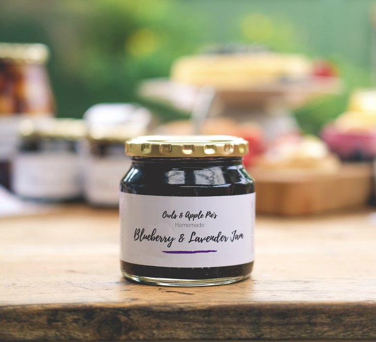 Blueberry & Lavender Jam  by Owls & Apple Pie