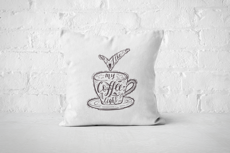 I like my Coffee light - Pillow Cover by But Why Not