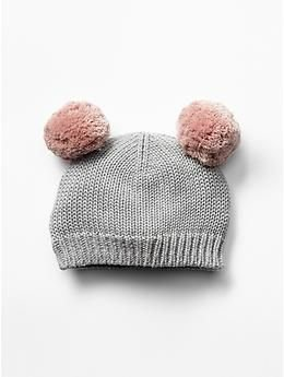 Brody Bear Pom Pom Beanie (0-3 months) by Baby Couture
