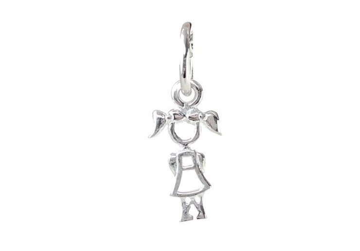 Sterling Silver BradDaShey Charm Girl by Havilah Designer Jewellers