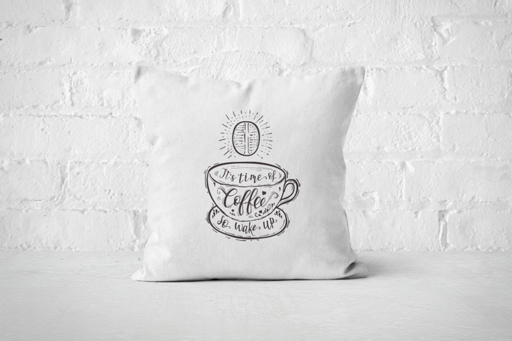 It's time of Coffee - Pillow Cover by But Why Not