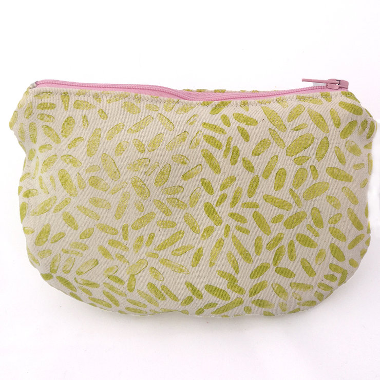 Essential Oil Roller Bag in Lime Pebbles by Sew & Such