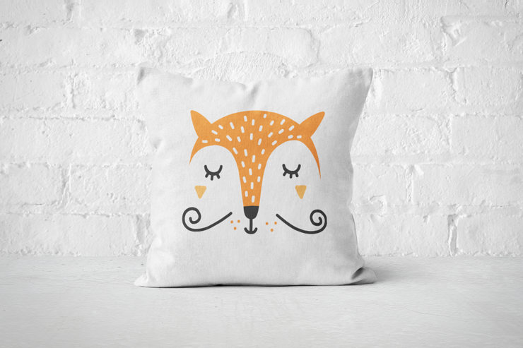 Smiley Critter 5 - Pillow Cover by But Why Not