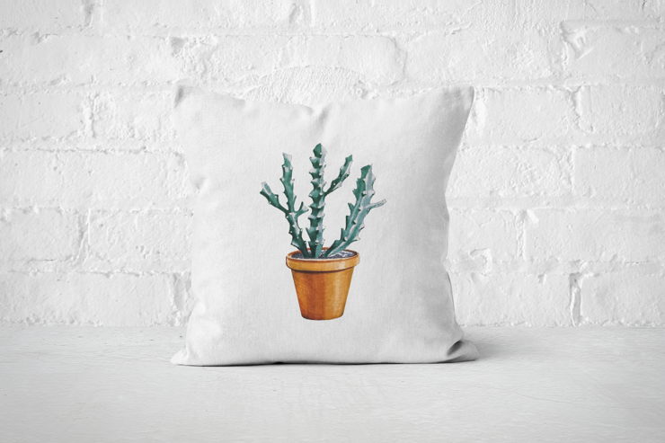 Cacti Party 5 | Pillow Cover by But Why Not