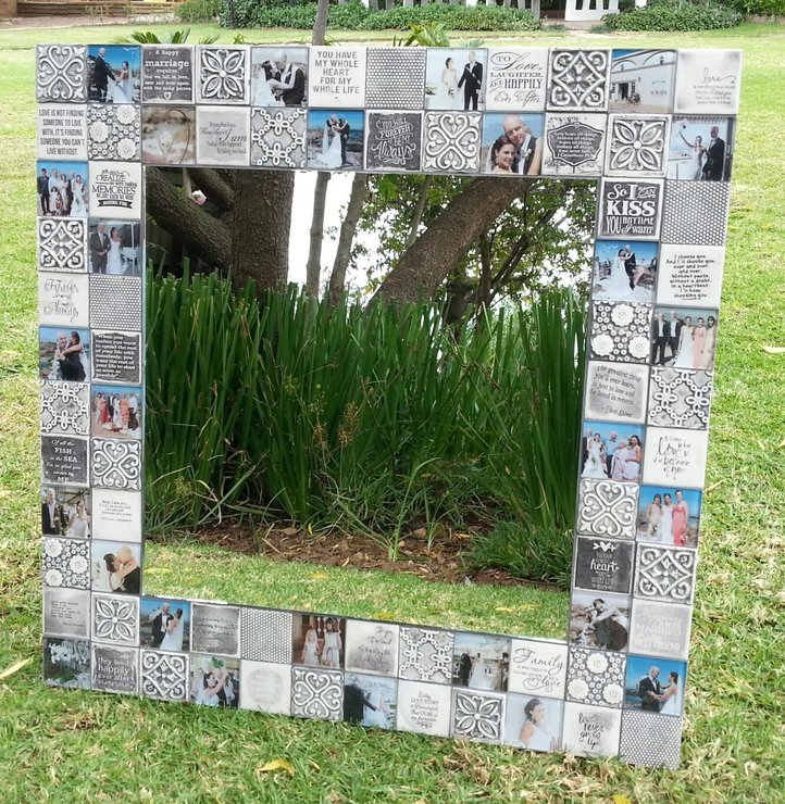 Medium Personalised Mirror - Colour by Earthly Mosaics