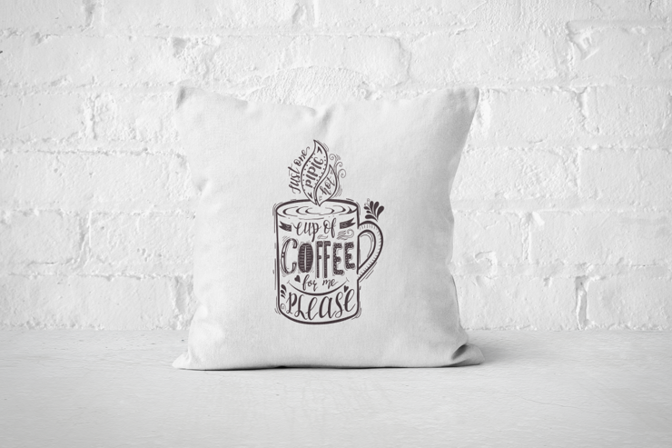 Cup of Coffee for me please - Pillow Cover by But Why Not