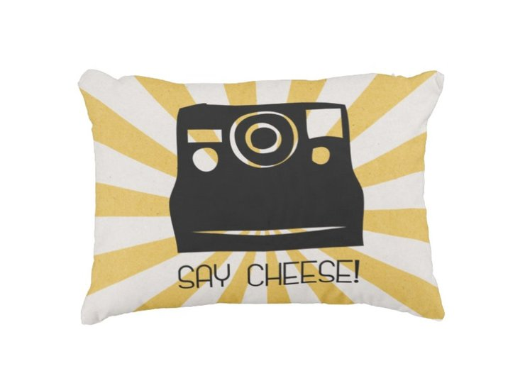 Say Cheese Scatter Cushion by But Why Not