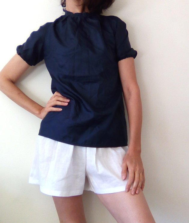 Poly cotton shorts, plus size culottes, cotton culottes, ruffled waistline, cotton shorts, summery shorts, beach wear, South African shop. by Ant At Home