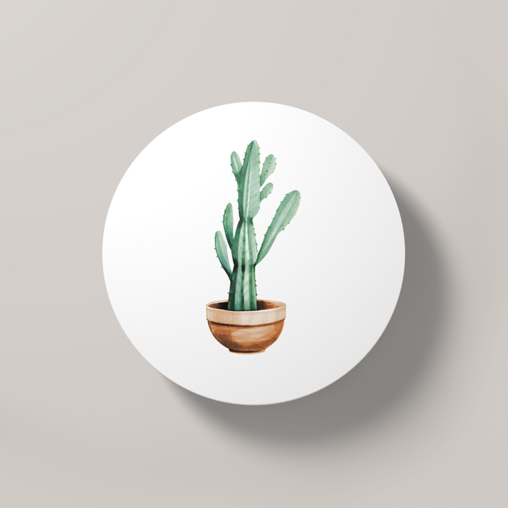 Cacti Party 6 | Round Coaster by But Why Not