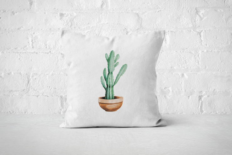 Cacti Party 6 | Pillow Cover by But Why Not