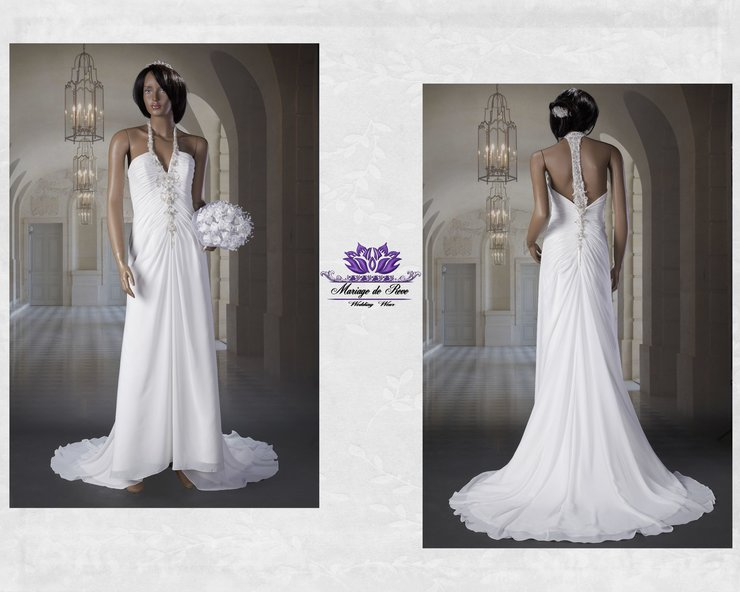 Halter Neck Wedding Dress By Mariage De Reve Cape Town