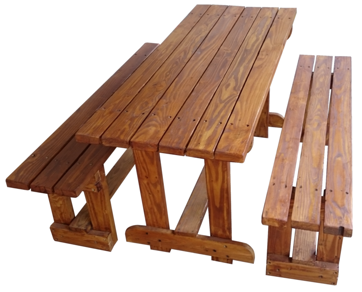 Patio Table And Benches 6 Seater By The Pallet Collection