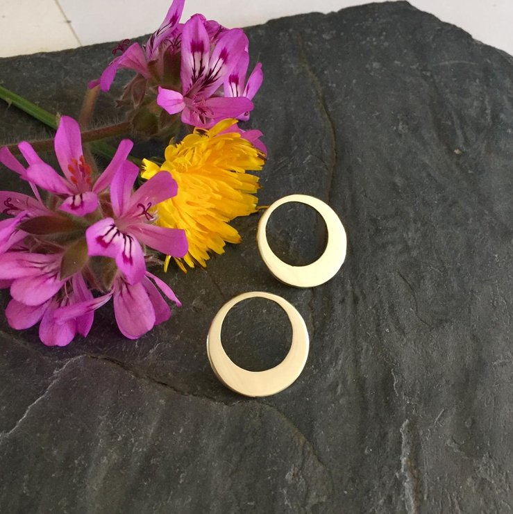 Handmade Sterling Silver - Sophisticated Circle Studs by Jessica Jane Jewellery