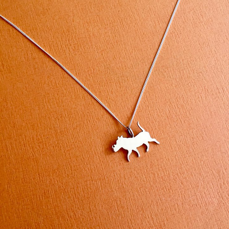 Handmade Sterling Silver - Warthog Pendant by Jessica Jane Jewellery