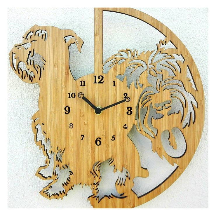 Schnauzer Dog Clock by CapeClocks