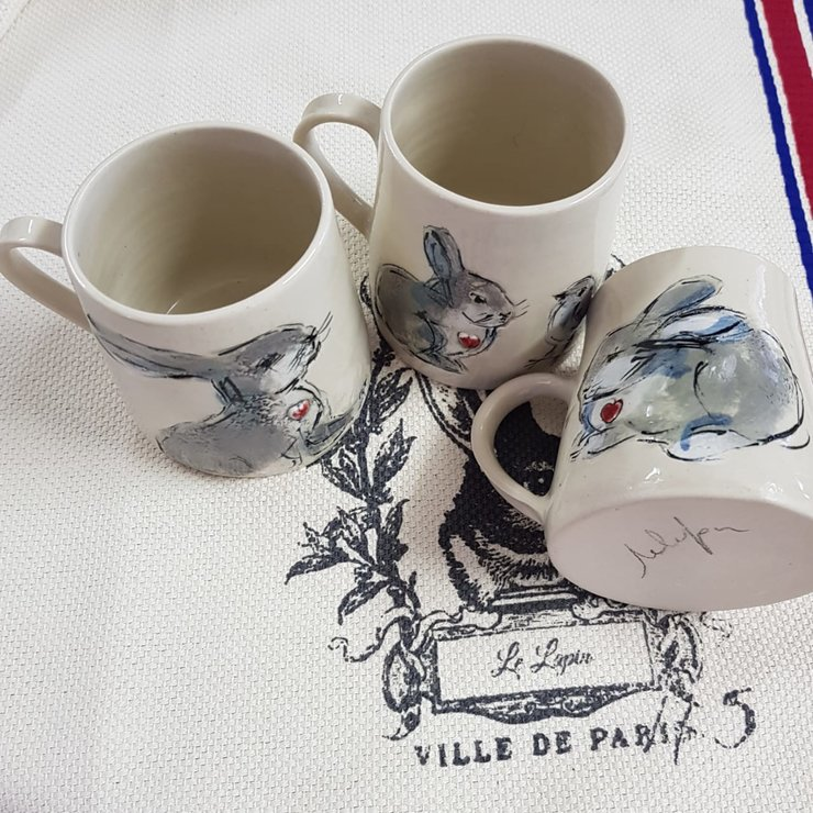 Small coffee mugs  6x8 cm by Le Lapin Ceramics - South Africa