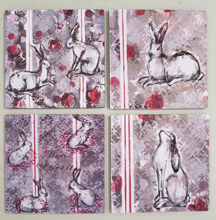 Coasters 10 x 10 cm by Le Lapin Ceramics - South Africa