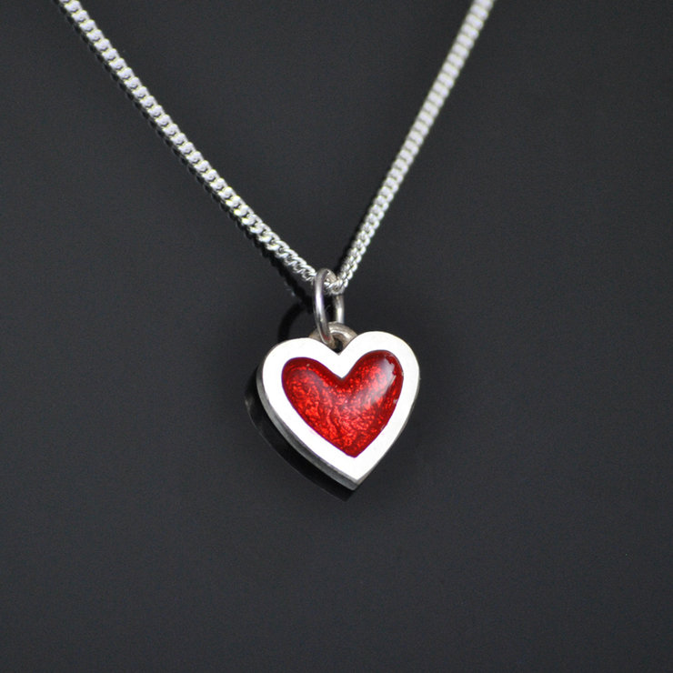 Silver Baby Heart Pendant by Duke & Dutch