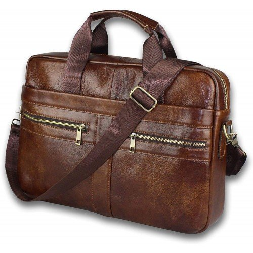 Brainstorm Genuine Leather Messenger Bag 14 inch by Camwoods and West Pty Ltd