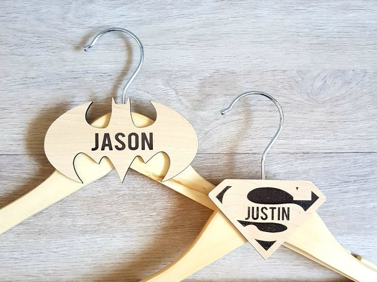Custom Engraved Wedding Hanger  by Polkadot Box