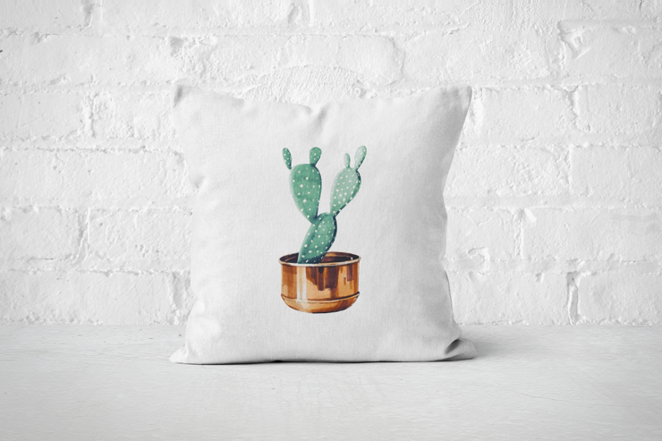 Cacti Party 8 | Pillow Cover by But Why Not