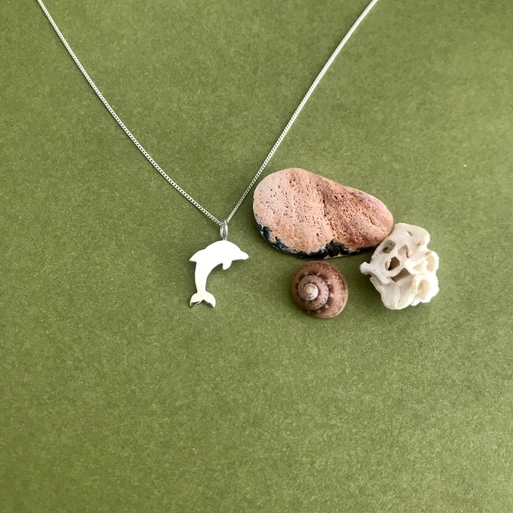 Handmade Sterling Silver - Dolphin Pendant by Jessica Jane Jewellery