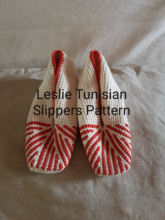 Leslie Tunisian Crochet Slippers Pattern by The Crochet Kind