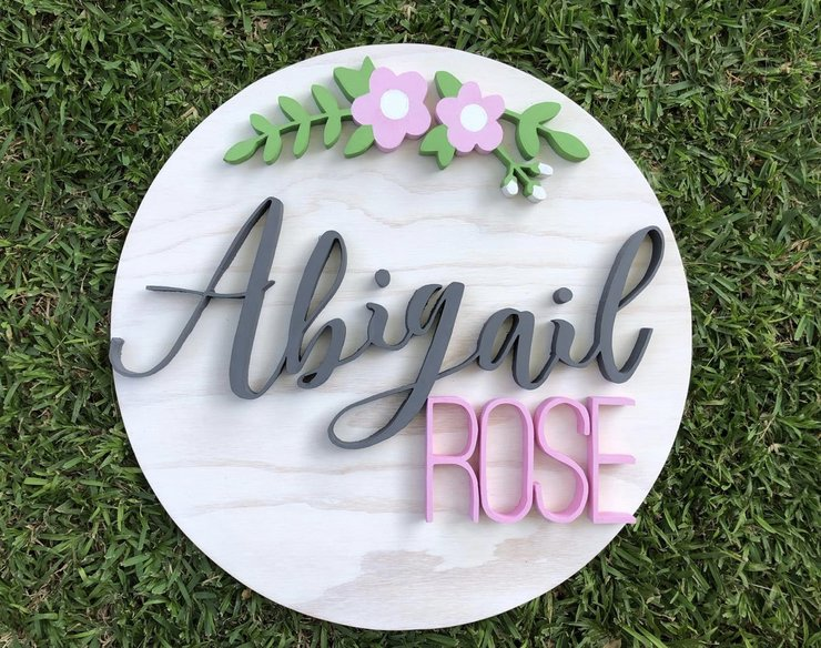 Cutout nameplate, wooden name, 3D name, cutout name, kids room decor, room decor, home decor by Hope Creations