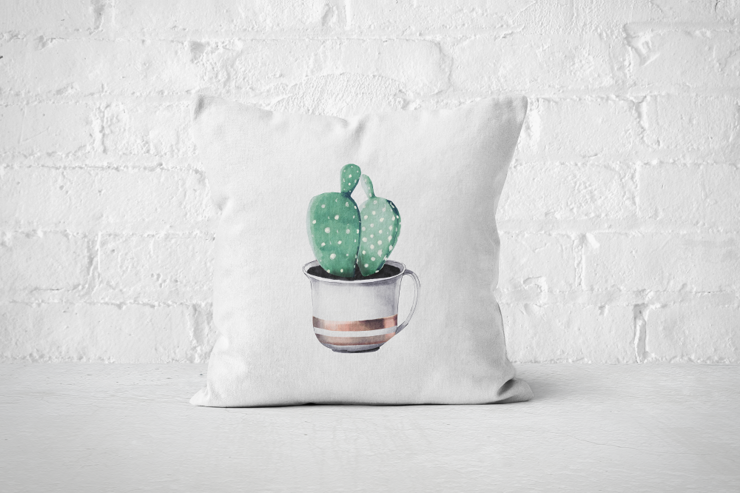 Cacti Party 9 | Pillow Cover by But Why Not