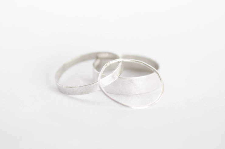 Sterling Silver Stacking rings  by the Daisychain