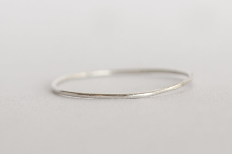 sterling silver wire ring  by the Daisychain