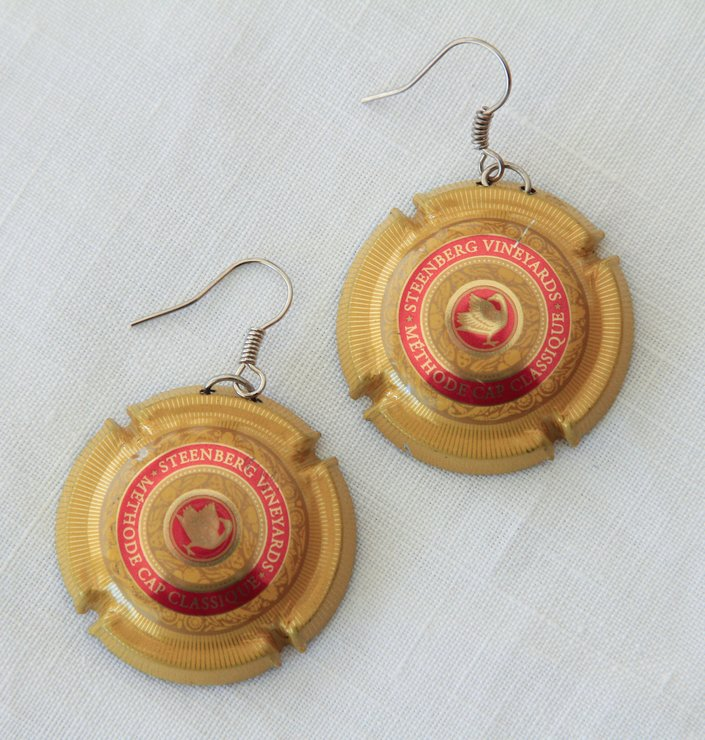 Bottle Top Earrings - Steenberg by VictoriaPilcher.com