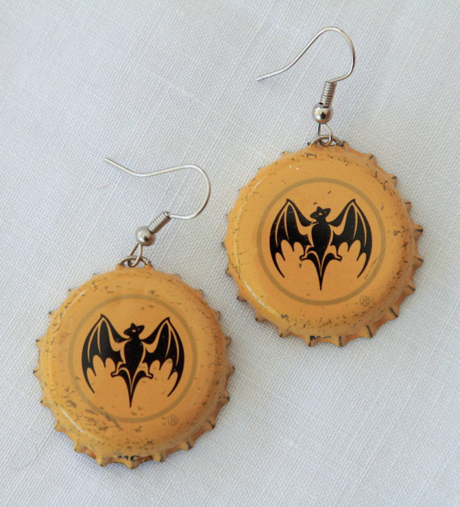 Bottle Top Earrings - Bacardi Breezer by VictoriaPilcher.com