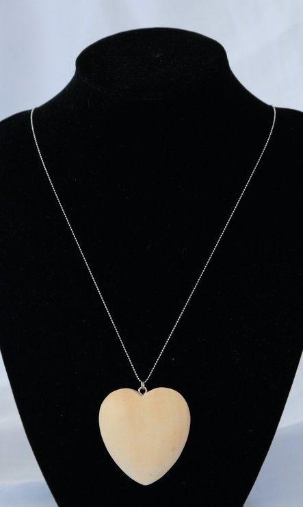 Wooden Heart Necklace by VictoriaPilcher.com