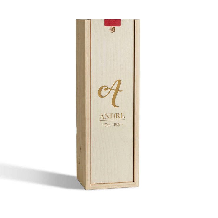Name Monogram Wine Box by Wine Gifts