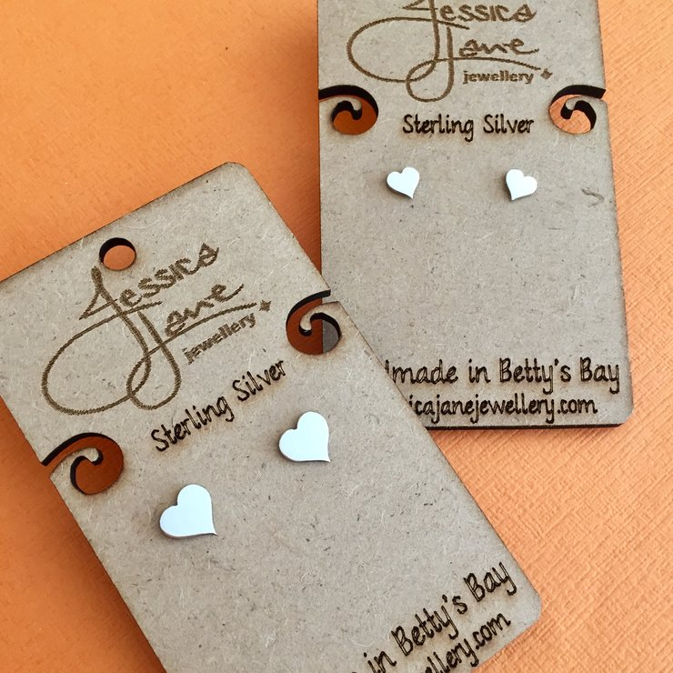 Handmade Sterling Silver - Heart Studs Combo by Jessica Jane Jewellery