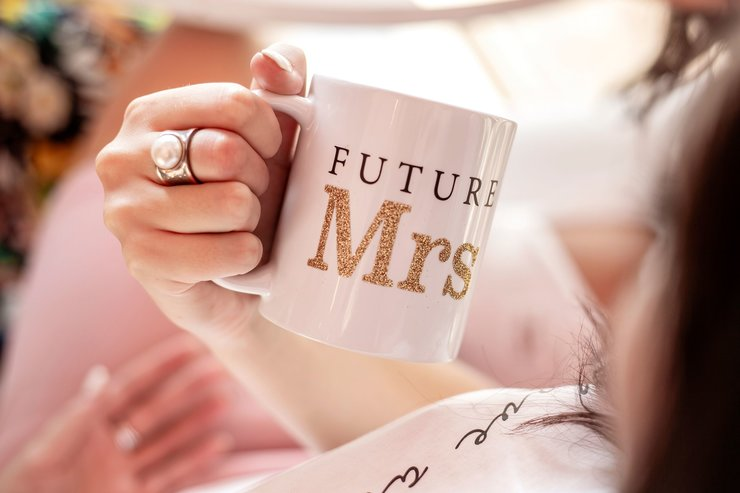 Future Mrs Mug for bride fiance wife gift by Love & Sparkles
