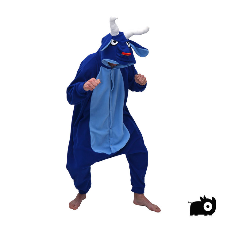 c482700ee079 Adult Animal Onesie - Blue Bull (Jumpsuit