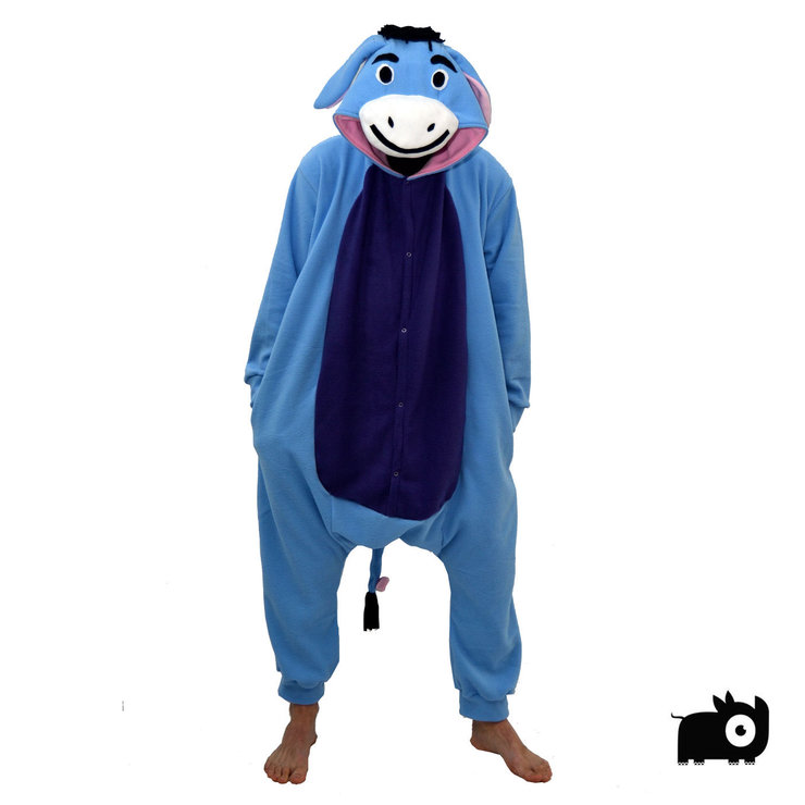 Adult Animal Onesie - Eeyore inspired (Jumpsuit Costume Kigurumi) by aFREAKA Clothing  sc 1 st  Hello Pretty & Adult Animal Onesie - Eeyore inspired (Jumpsuit Costume Kigurumi ...