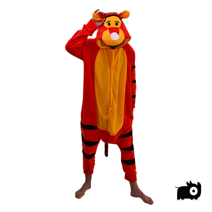 Adult Animal Onesie - Tigger inspired (Jumpsuit, Costume, Kigurumi) by aFREAKA Clothing