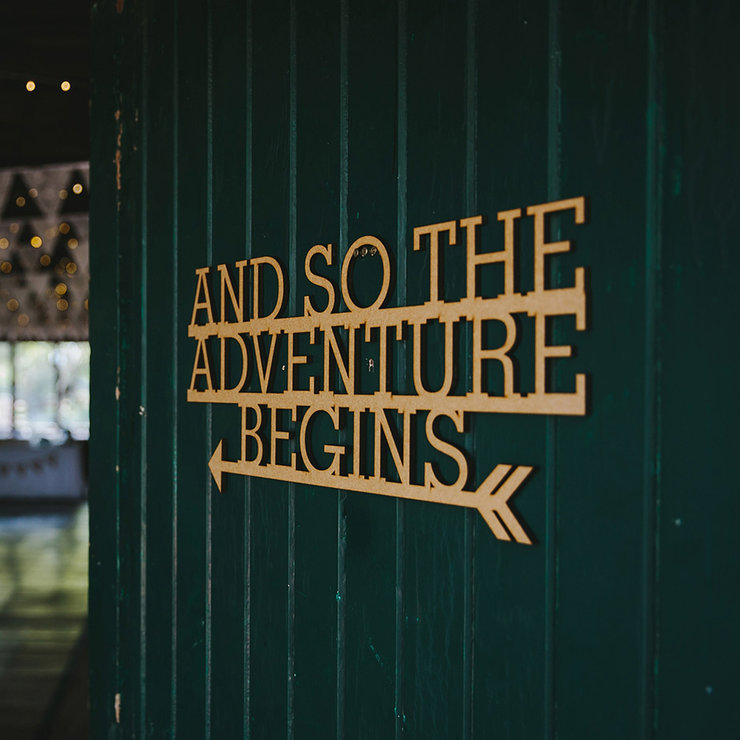 And so the adventure begins sign by Papermoon
